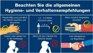 Infektionsschutz- und Verhaltensregeln